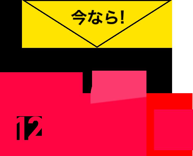 今なら!最大12ヶ月0円
